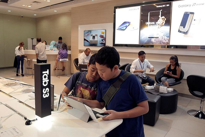 A Samsung store in Jakarta. Goldman Sachs analysts say some of the biggest names in the technology industry have made large investments in Indonesia in the last few years.
