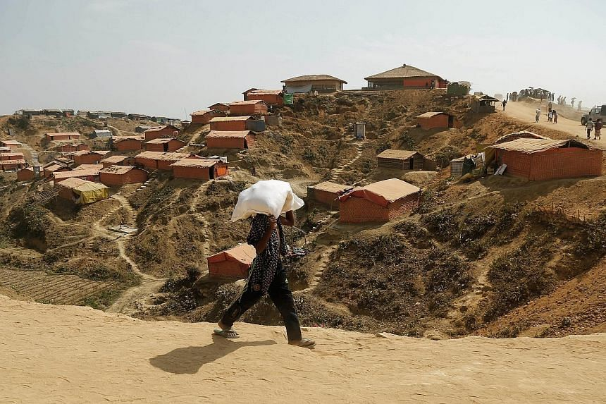 Thousands of Myanmar refugees are living in camps such as the Kutupalong camp in Cox's Bazar, Bangladesh. The repatriated family is among the 700,000 Rohingya who fled Myanmar following a crackdown by the army. Photos online showed the Rohingya famil