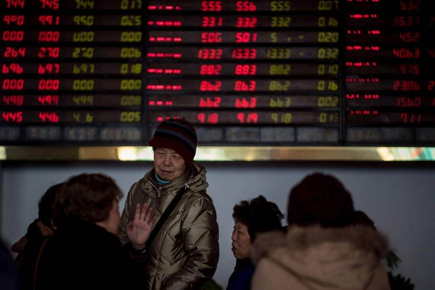 Hong Kong's market fell more than one per cent, while Shanghai slipped 0.8 per cent, with traders there awaiting the release of first-quarter Chinese growth data.
