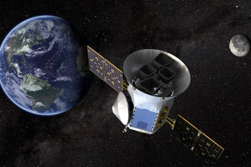 Nasa's Transiting Exoplanet Survey Satellite, Tess, is shown in this conceptual illustration obtained by Reuters, on March 28, 2018.