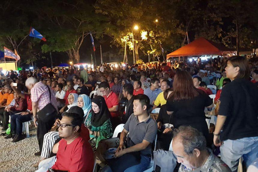 The crowd at a Pakatan Harapan rally in Langkawi on April 15, 2018.