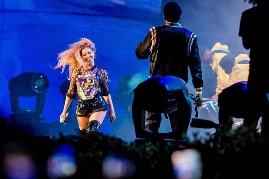 Beyonce performing with Jay-Z at the Coachella Music and Arts Festival in Indio, California, on April 14, 2018.