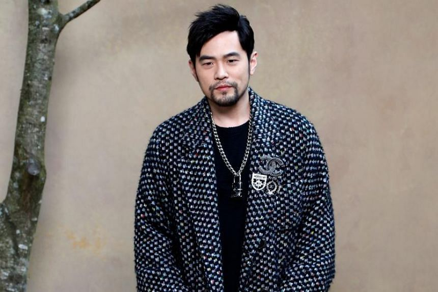 Taiwanese singer Jay Chou poses for a photo-call before the Chanel's 2018/2019 fall/winter collection fashion show on March 6, 2018, in Paris.