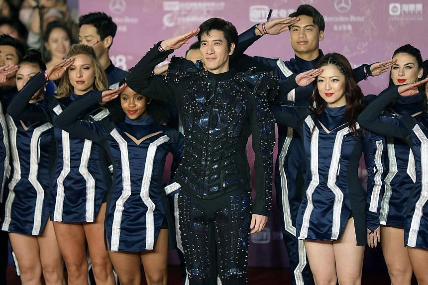 Red-carpet glamour: Stars at the opening ceremony of the Beijing International Film Festival included , actress Chutimon Chuengcharoensukying, model Vivian Dawson, actress Shu Qi and Chinese-American singer Wang Leehom.