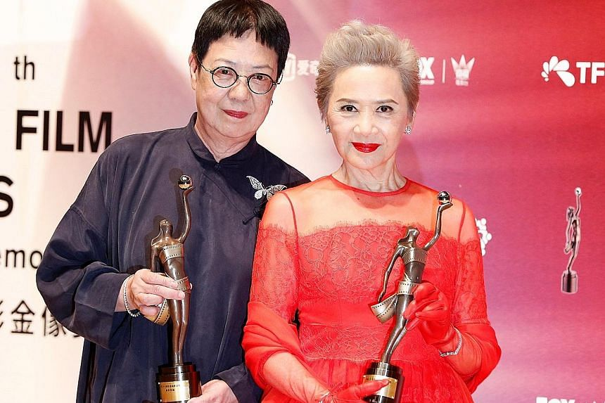 Best Director award winner Ann Hui (left) and Best Supporting Actress Deanie Ip for Our Time Will Come.