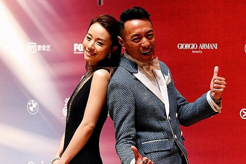 Actress Stephy Tang and Best Supporting Actor Philip Keung (Shock Wave).