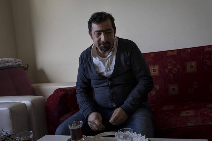 Hisham al-Skeif, one of the civilian leaders of the Aleppo protests against Syrian President Bashar Assad, at his new home in Gaziantep, Turkey, on March 26, 2018.