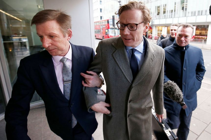 Cambridge Analytica CEO Alexander Nix arriving at the company's offices in central London on March 20, 2018.
