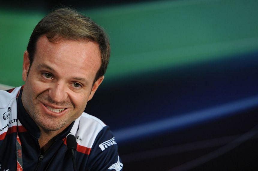 Rubens Barrichello speaking during a press conference ahead of the 2011 Monaco Grand Prix.