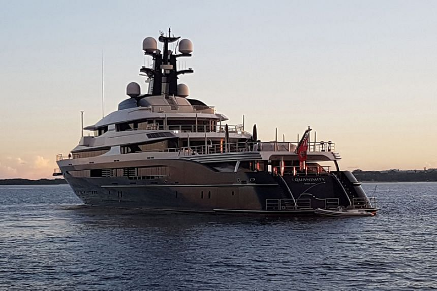 The Equanimity yacht was confiscated off Bali on Feb 28, 2018, as part of a joint operation with the US Federal Bureau of Investigation.