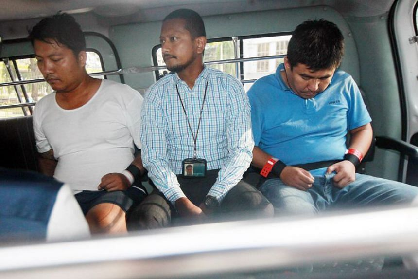 Myanmar nationals Phyo Min Naing (left) and Zaw Min Hlaing (right) were tasked with abducting a man suspected of having an affair with the wife of a businessman.