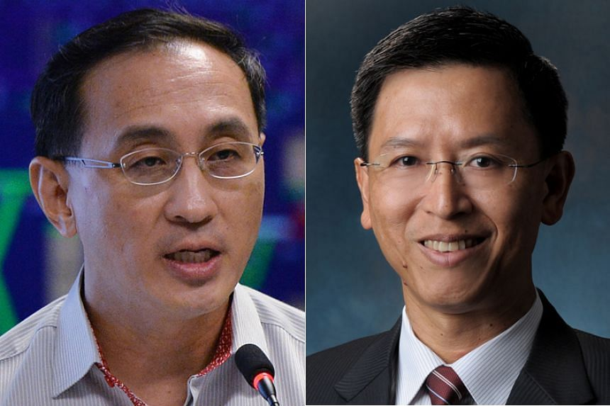 SMRT CEO Desmond Kuek (left) is stepping down after more than five years at the helm, say sources. His successor is expected to be former chief of defence force Neo Kian Hong.