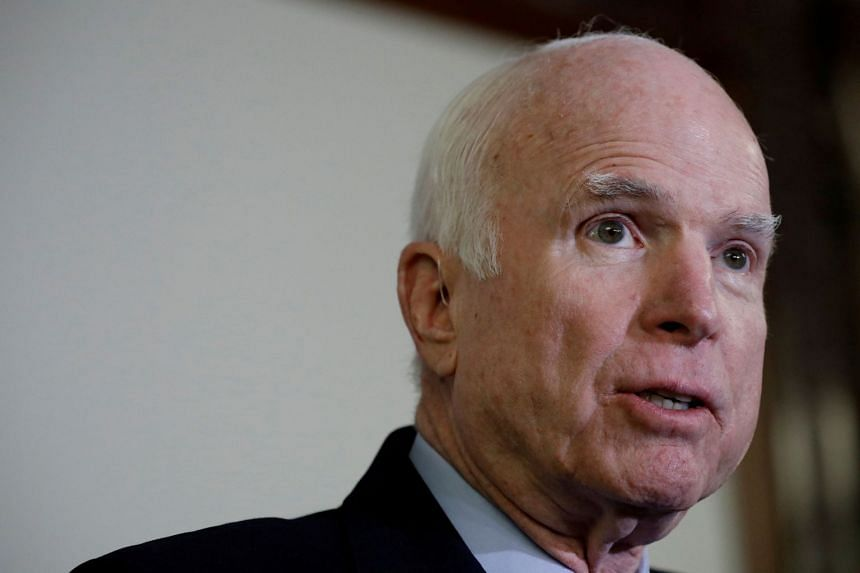 US Senator John McCain was diagnosed with an aggressive type of cancer, glioblastoma, in 2018, after a brain tumor was discovered by doctors.