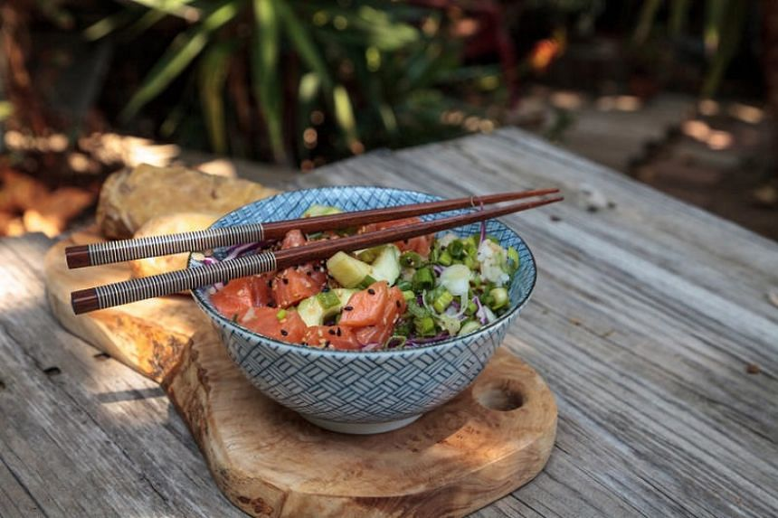 It is easy to whip up your own poke bowl at home.