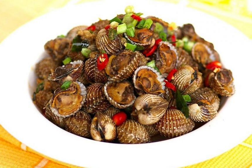 Fragrant Kam Hiong Style Fried Cockles.
