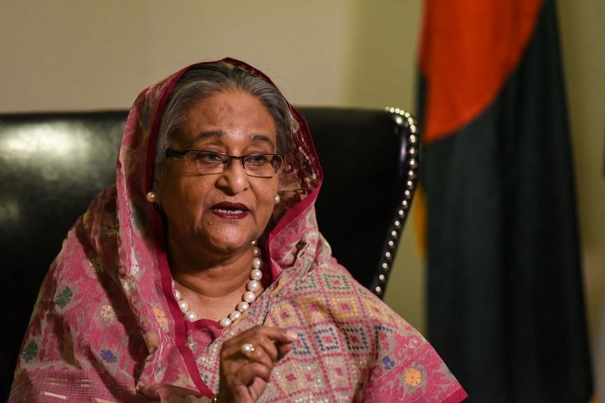 Sheikh Hasina (above, in a file photo) said the international community needs to put more pressure on Myanmar.