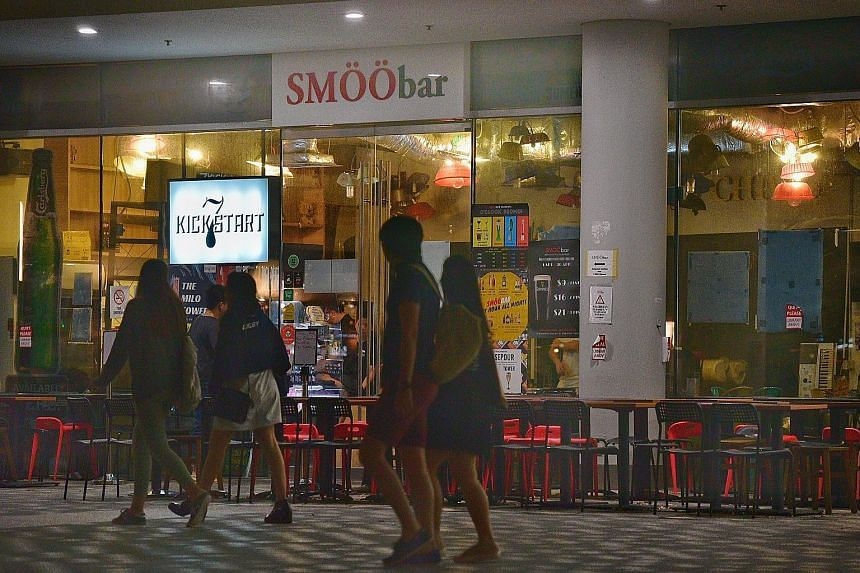 Smoobar, one of two F&B outlets on the SMU campus licensed to sell alcohol, was told on April 11 to stop the sale of liquor until further notice. SMU said it is assisting the police with investigations after students were seen drinking around campus,