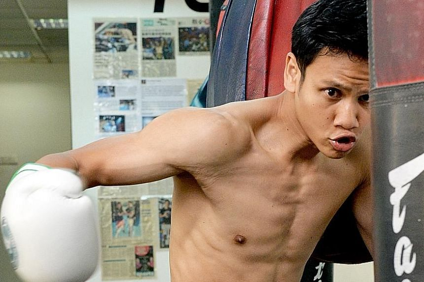 Ridhwan's regular weight is 67kg and he normally starts to cut down on food about two months before each fight to lose 10kg. He says he finds boxing easier than juggling three businesses on a daily basis.