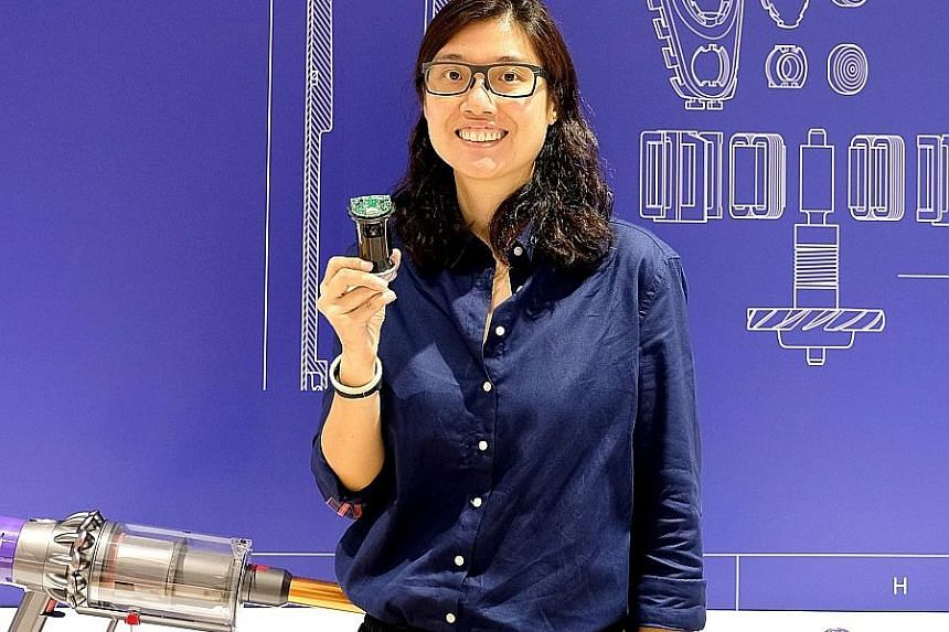 Dyson's research, design and development engineering manager Yvonne Tan has overseen the manufacture of more than 20 million digital motors in Tuas since joining the company in 2015.