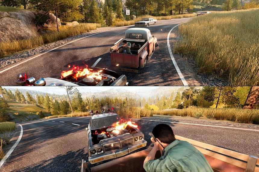 A Way Out is played from a third-person perspective via a split-screen mode.