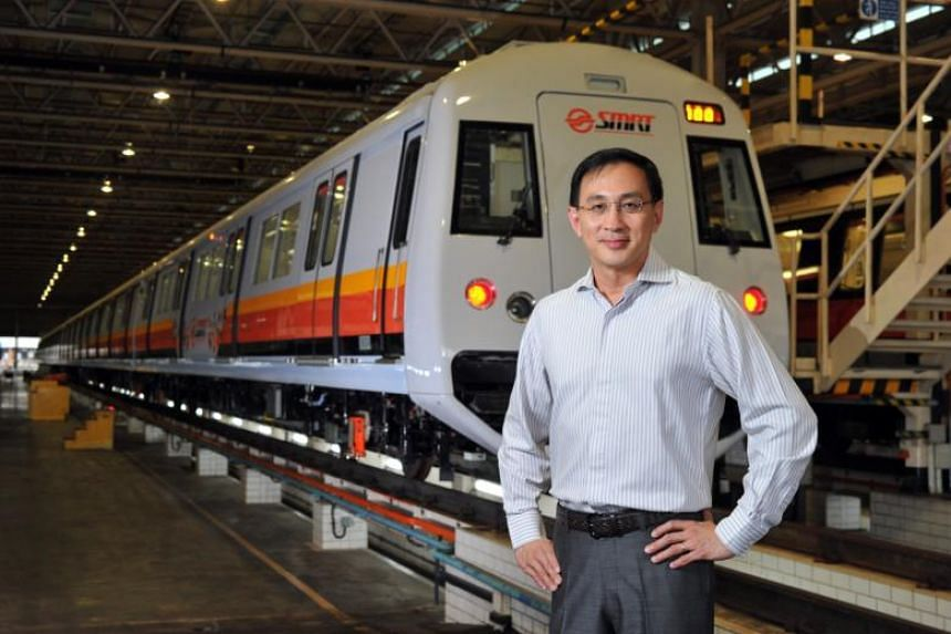 "Outgoing SMRT chief executive Desmond Kuek thanked staff at the train operator for a ""most meaningful and memorable journey with me"" in an e-mail on April 18, 2018."