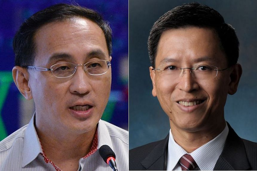 SMRT has announced that Neo Kian Hong (right) will succeed Desmond Kuek as chief executive from Aug 1.