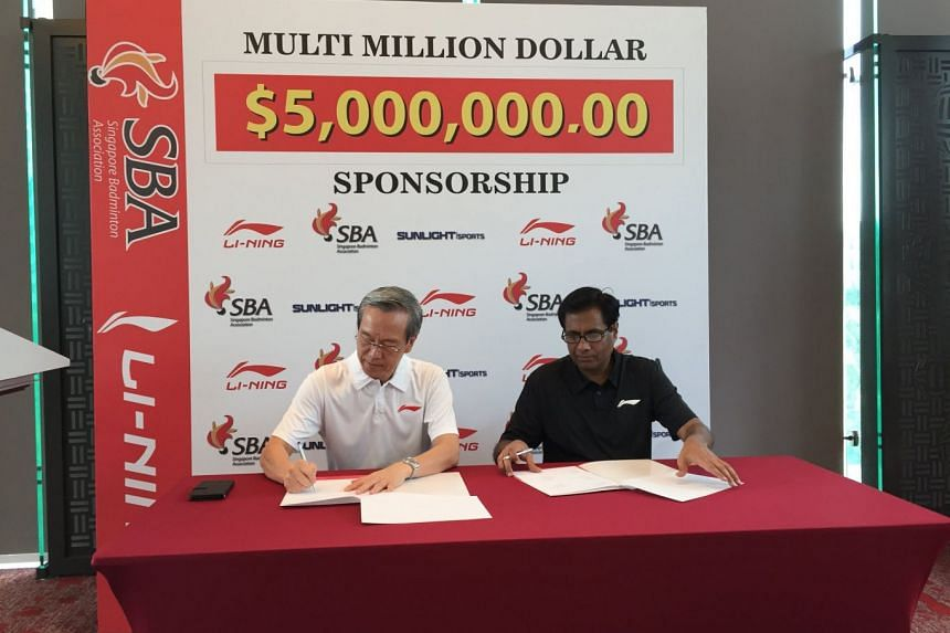It is the 10th year that Li-Ning is backing the Singapore Badminton Association, with the value of the sponsorship set at $5 million over four years from April 1 this year till March 31, 2022.