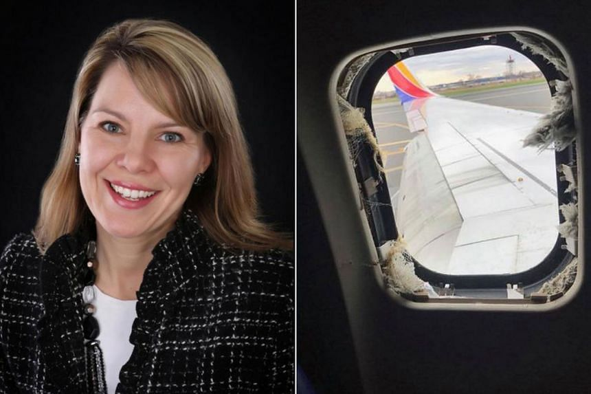 The victim, Jennifer Riordan, was nearly sucked out of the aircraft when cabin pressure was lost after a window shattered. She was pulled back in by other passengers.