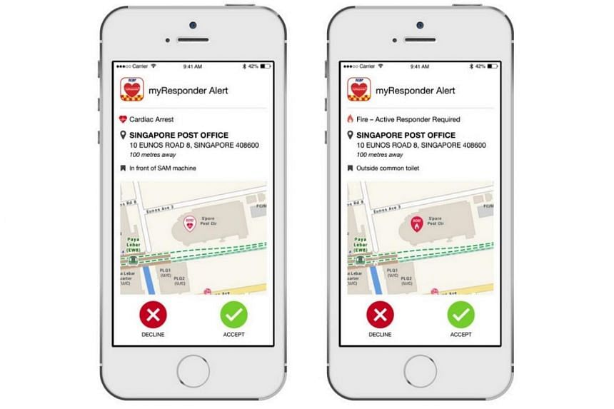 A new function in the Singapore Civil Defence Force (SCDF)'s myResponder mobile app will alert registered users to cases of minor fires within a 400m radius.