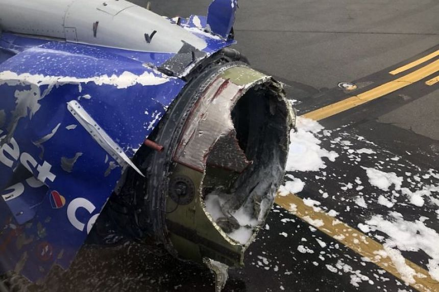 A photo said to be of the damaged plane uploaded to social media.