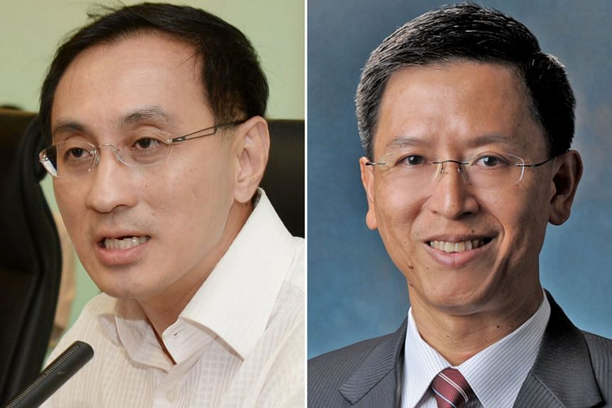 SMRT chief executive Desmond Kuek (left) and his likely successor, former chief of defence force Neo Kian Hong.