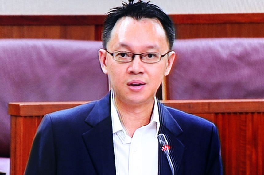 Jurong GRC MP Tan Wu Meng (above) was talking to a resident during his Meet-the-People Session in Clementi (left) at around 10pm on Monday night when a young man dashed towards him and began hitting him with his fists.