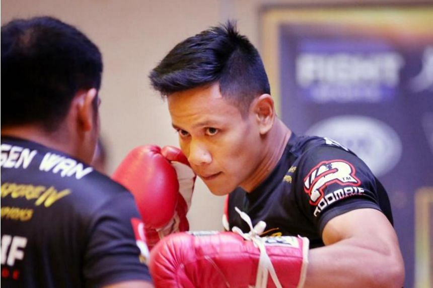 Singapore boxer Muhammad Ridhwan (pictured) will face Filipino Jeson Umbal for the International Boxing Organisation intercontinental featherweight title on April 20.