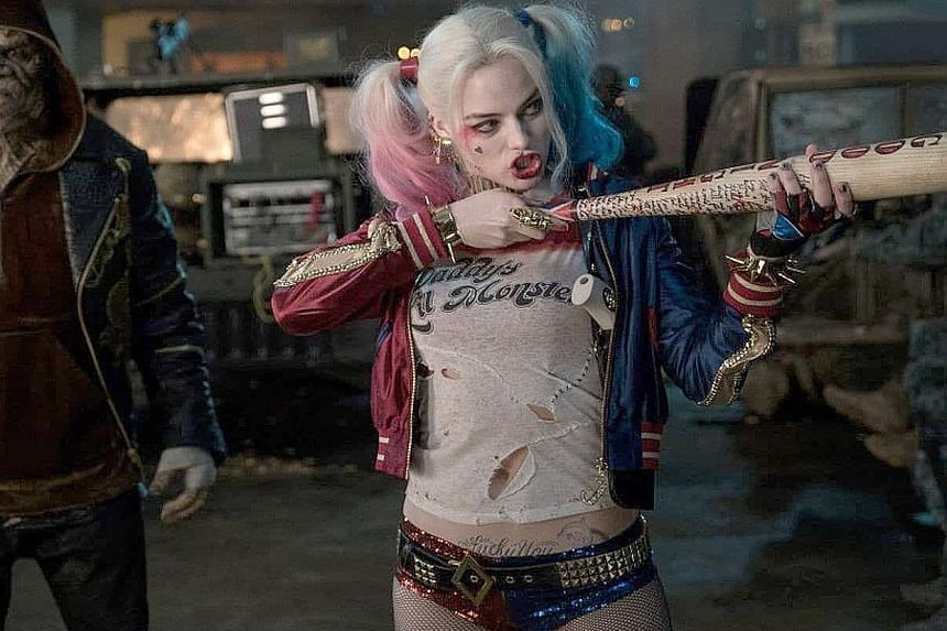 Margot Robbie, who played the demented supervillain Harley Quinn in Suicide Squad (2016, left), will again take on the role in a new movie.