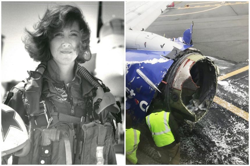 Tammie Jo Shults, 56, a former US Navy fight pilot, calmly told air traffic control that part of her plane was missing, and she would need ambulances on the runway.