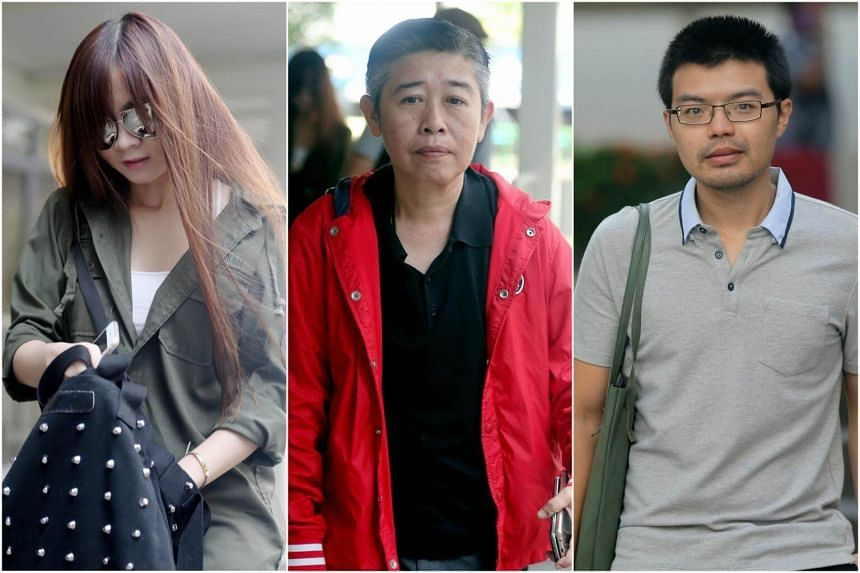 (From left) Fiona Poh Min, Poh Yuan Nie and Feng Riwen, who allegedly helped students cheat in their exams.