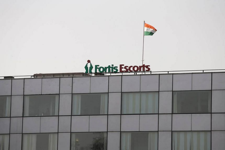 A Fortis hospital building in New Delhi, India on March 28, 2018.
