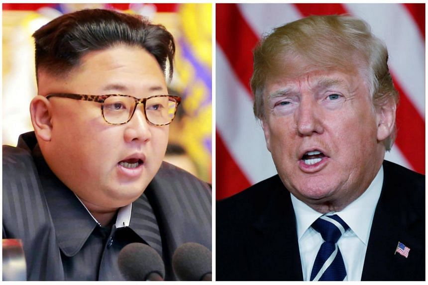 US President Donald Trump (right) reportedly hopes to speak with North Korean leader Kim Jong Un at their upcoming summit with only interpreters present.