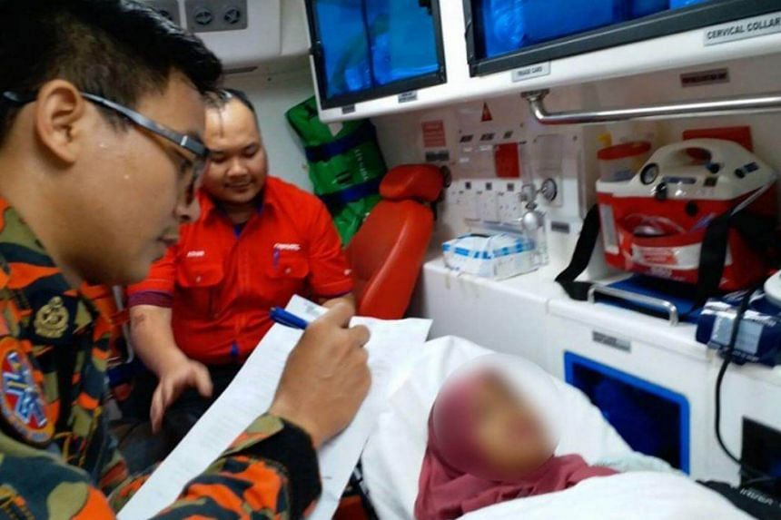 The woman was sent to Kuala Lumpur Hospital for further treatment, accompanied by a RapidKL officer.