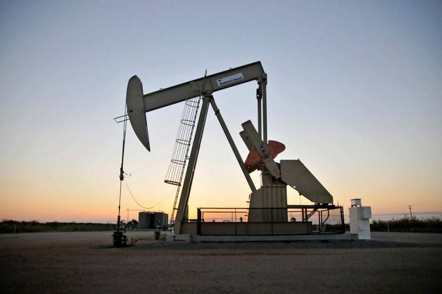 File photo showing a pump jack in operation at a well site near Guthrie, Oklahoma.