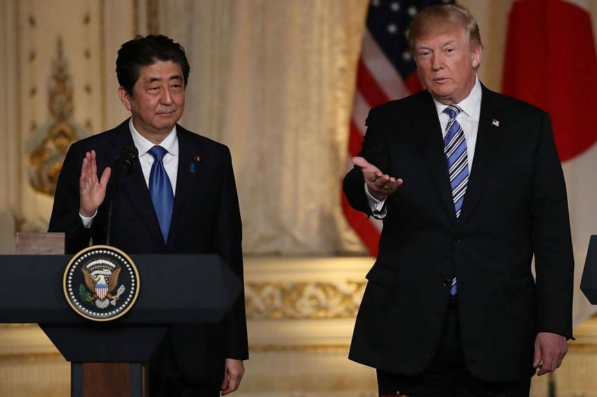 US President Donald Trump made the comments during a joint press conference with visiting Japanese Prime Minister Shinzo Abe at his Mar-a-Lago retreat in Florida.