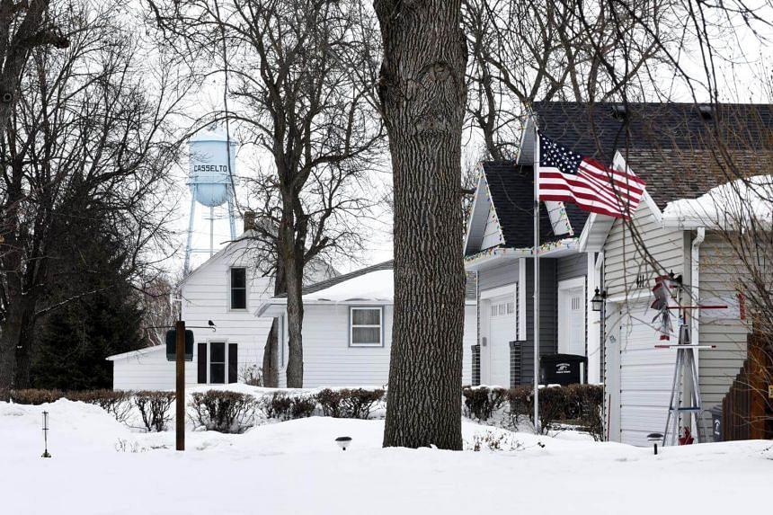 Homes in Casselton, North Dakota on April 9, 2018. China's proposed tariffs on soybeans would hit hard in Iowa, Kansas, Missouri, North Dakota and other states with highly competitive House and Senate races.