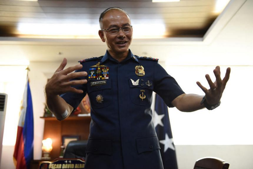 The Philippines' National Capital Region Police director Oscar Albayalde in an interview with Reuters in Taguig City on June 6, 2017.