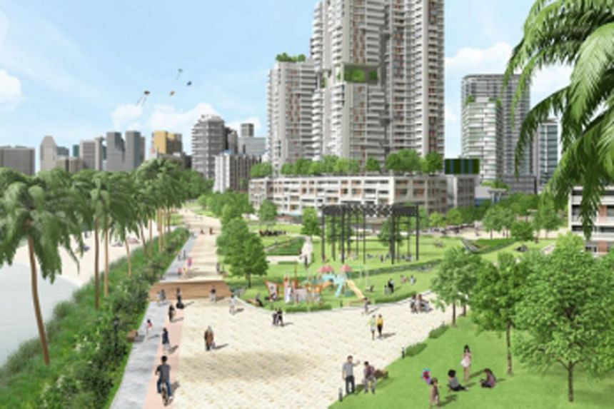 An artist's impression of the made-over Kampong Bugis district.