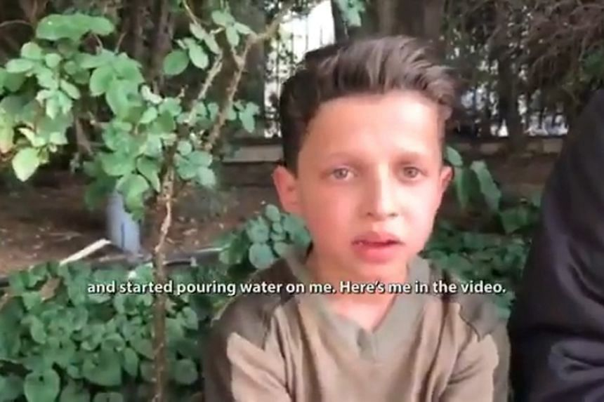 Russia claims an 11-year-old boy was made to pose as a victim of chemical weapons in Syria.