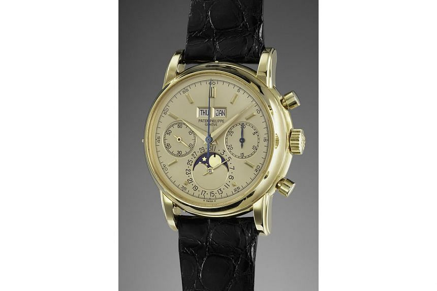 Mr Aurel Bacs was in town to present an exhibition featuring highlights from two upcoming Phillips auctions, including a vintage white-gold Rolex Cosmograph Daytona and a unique Patek Philippe (above), the only one known to have a champagne-coloured
