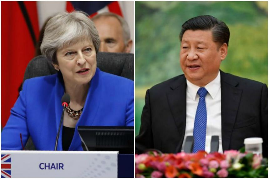 """Chinese President Xi Jinping and British Prime Minister Theresa May agreed to further promote the """"Golden Era"""" of bilateral ties between the two sides."""