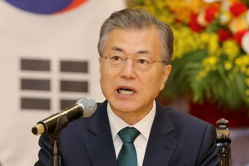 South Korean President Moon Jae In is set for a high-stakes meeting with North Korean leader Kim Jong Un on April 27, 2018.