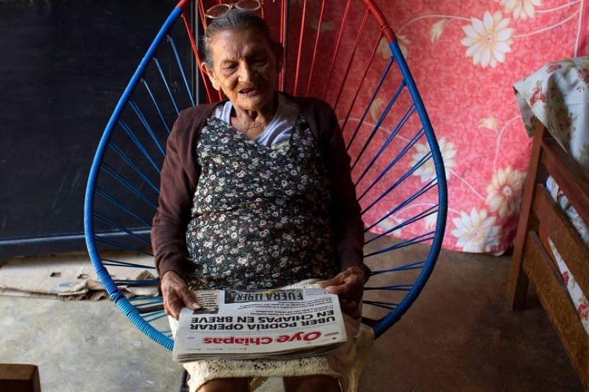 Mexican Guadalupe Palacios Garcia, 96, learnt to read when she was 92 through a literacy programme and is now in high school.
