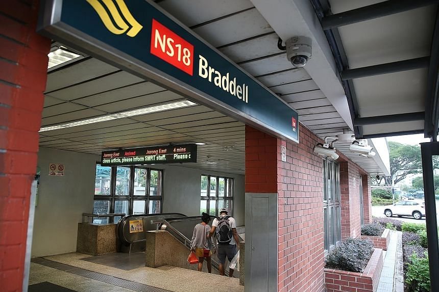 Khatib, Yio Chu Kang, Ang Mo Kio, Bishan, Braddell (left), Toa Payoh and Novena stations will close earlier at around 11pm on Fridays and Saturdays, and open later at around 8am on weekends.
